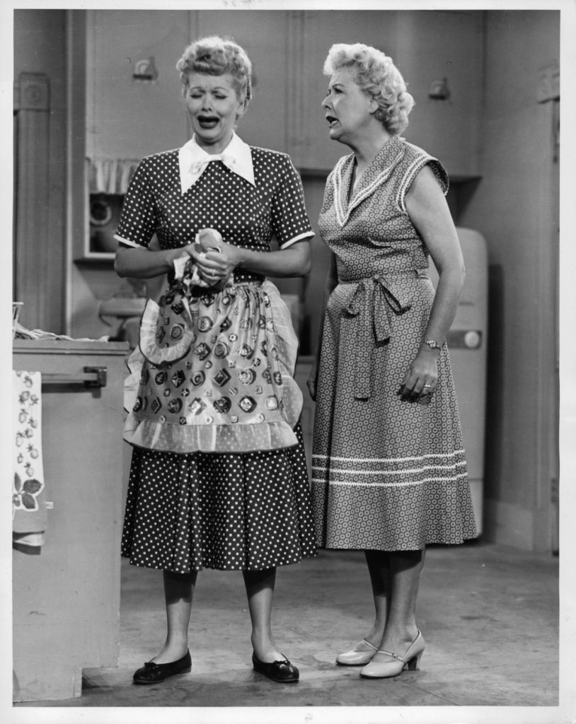 Lucille Ball and Vivian Vance in 'I Love Lucy'