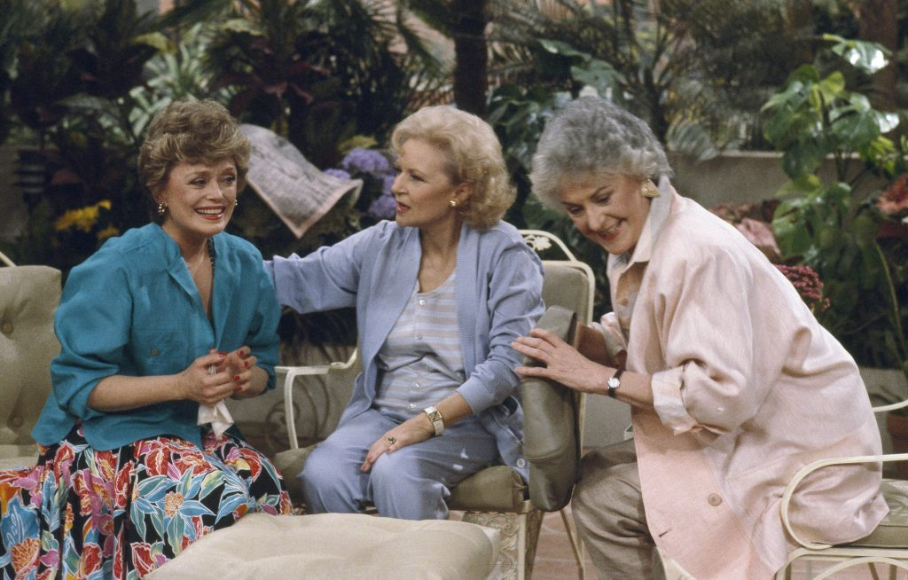 Rue McClanahan, Betty White, and Bea Arthur of 'The Golden Girls'
