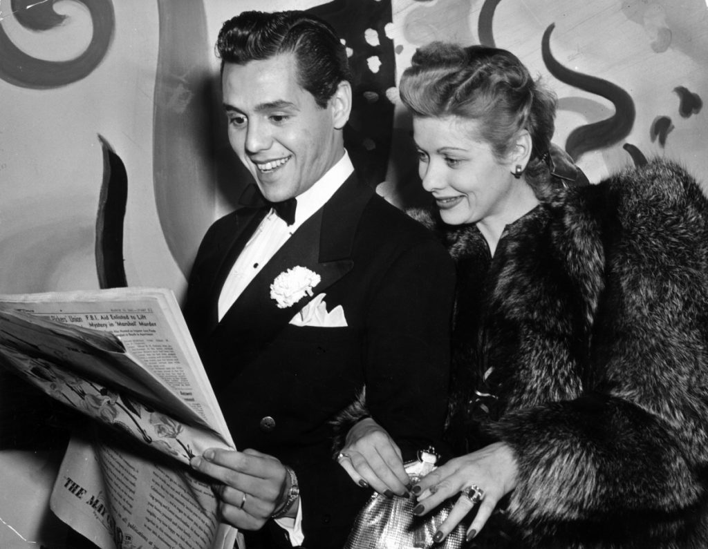 Desi Arnaz and Lucille Ball in 1941