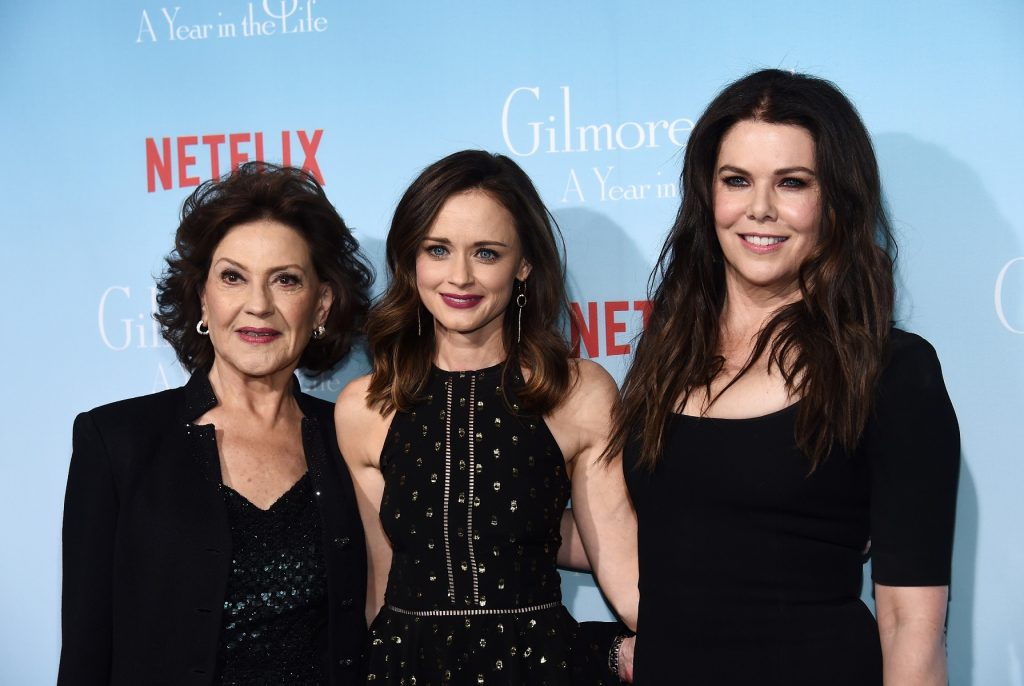 Kelly Bishop, Alexis Bledel and Lauren Graham arrive at the premiere of Netflix's 'Gilmore Girls: A Year In The Life'