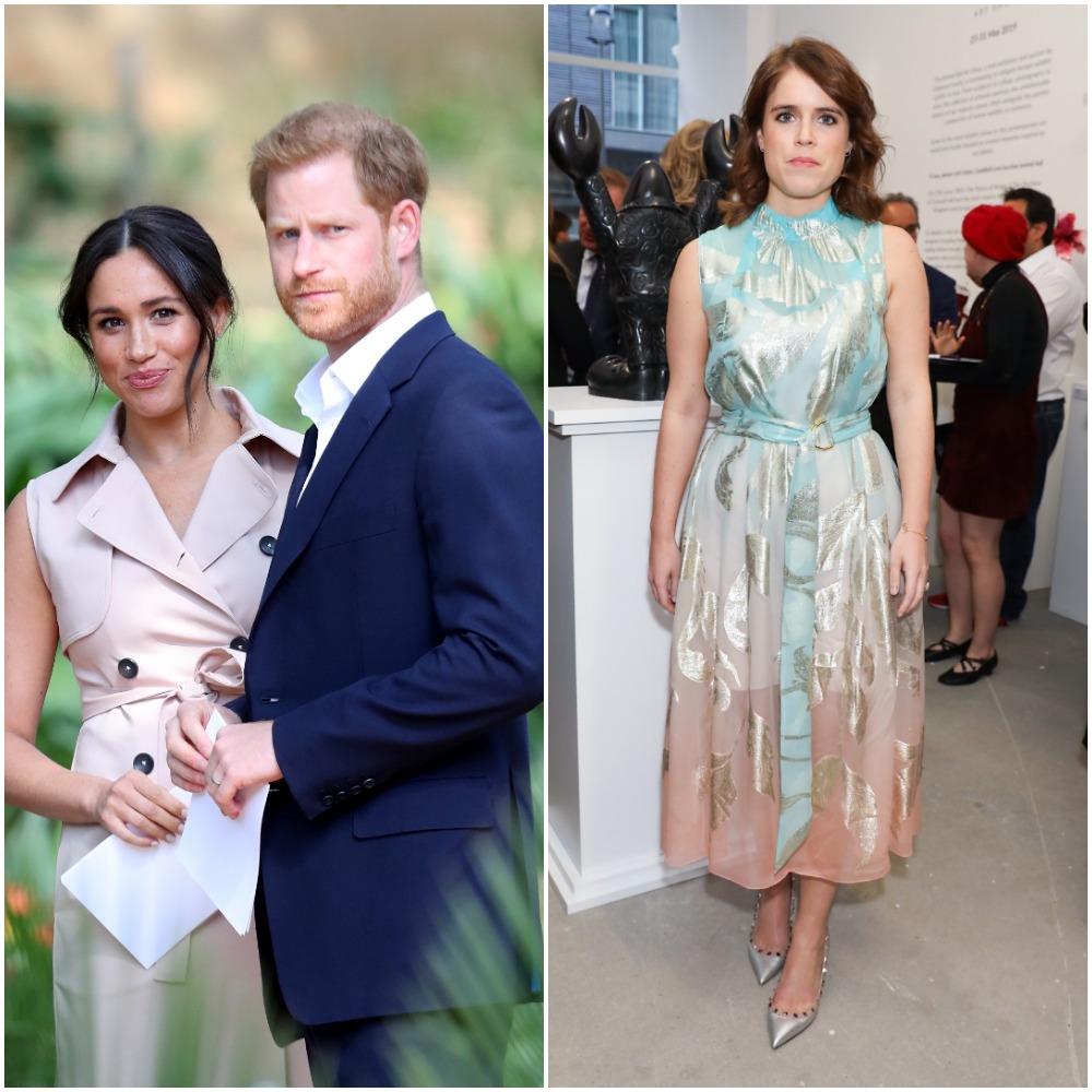 Prince Harry and Meghan Markle; Princess Eugenie