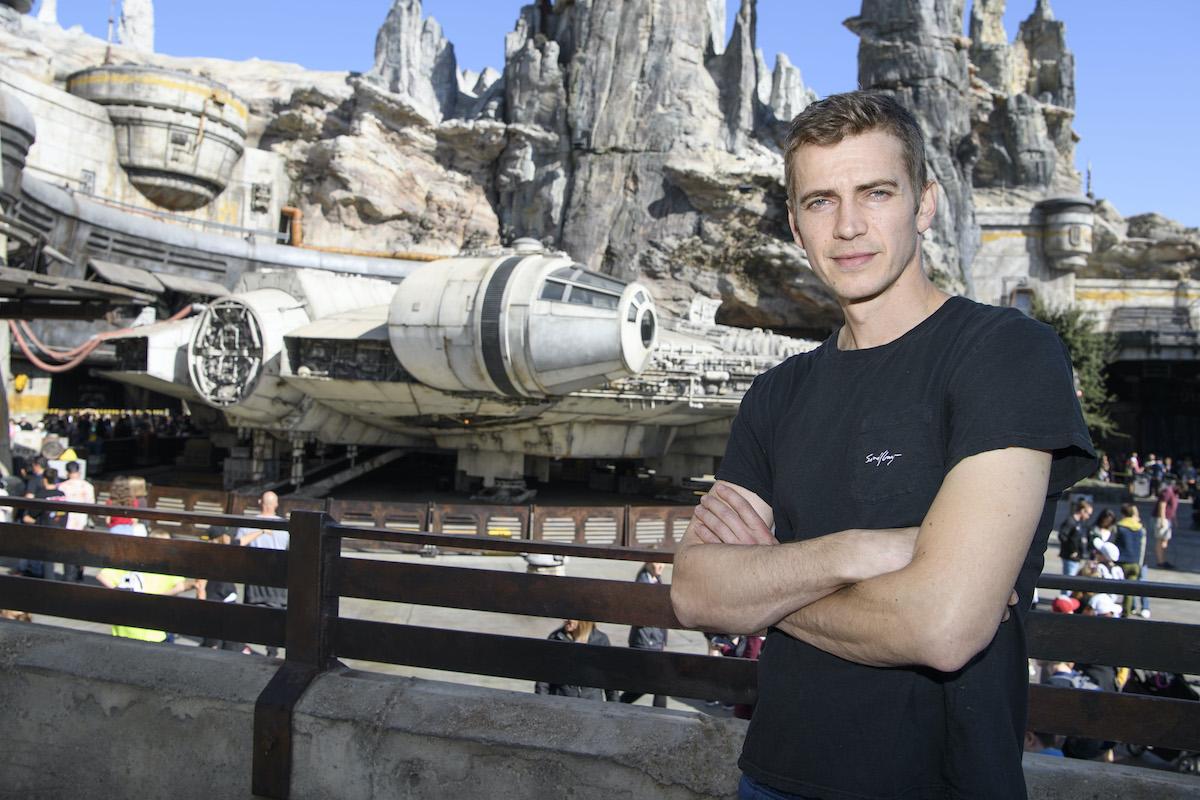 Hayden Christensen at Star Wars: Galaxy's Edge at Disneyland Park