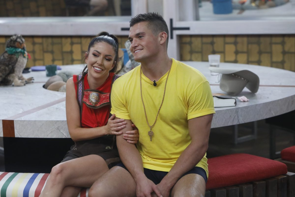 Holly Allen and Jackson Michie in the Big Brother House