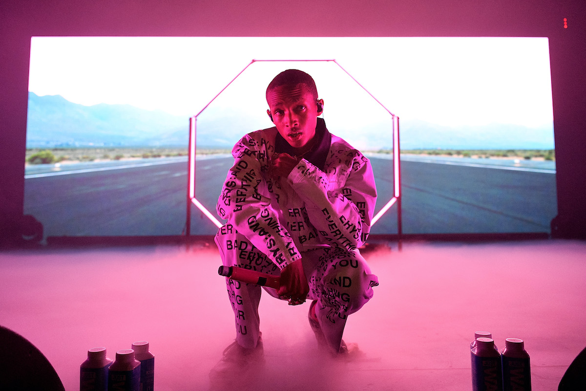 Jaden Smith performs onstage during The Willow and Erys Tour