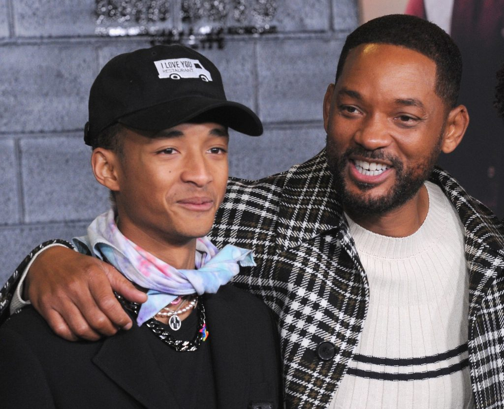Jaden Smith and Will Smith arrive for the Premiere Of Columbia Pictures' 'Bad Boys For Life'