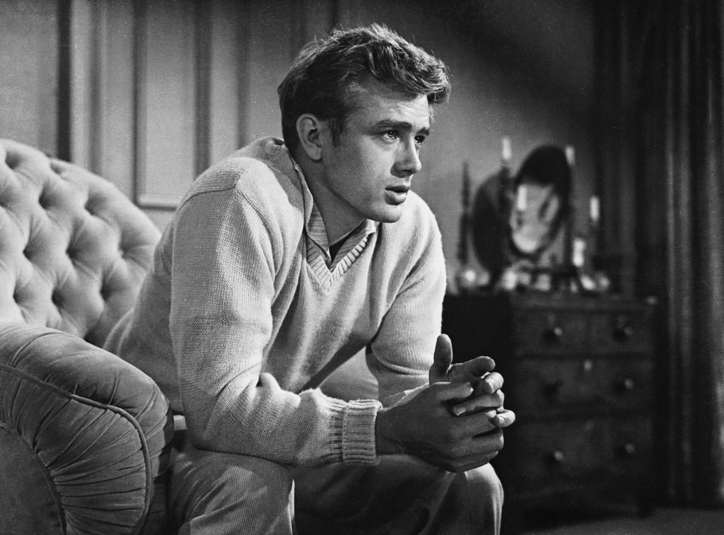 James Dean as Cal Trask in 'East of Eden'