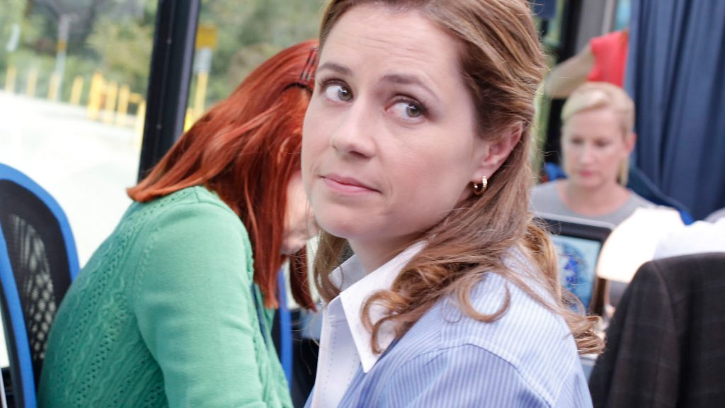 Jenna Fischer as Pam on 'The Office'