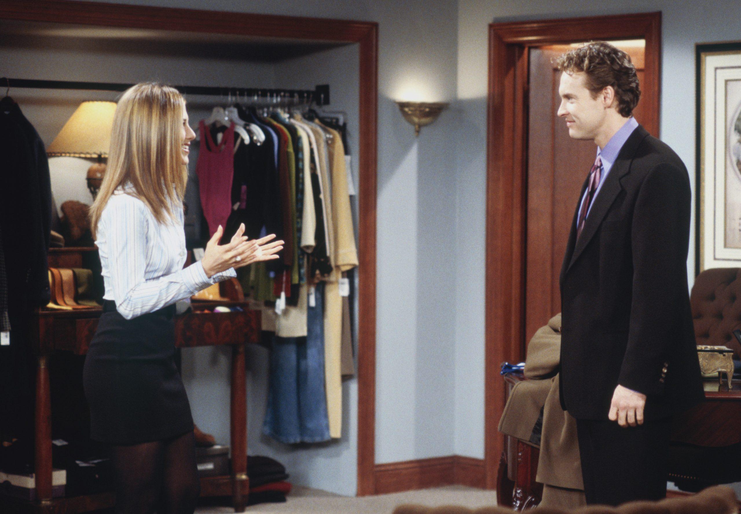 Tate Donovan and Jennifer Aniston on Friends