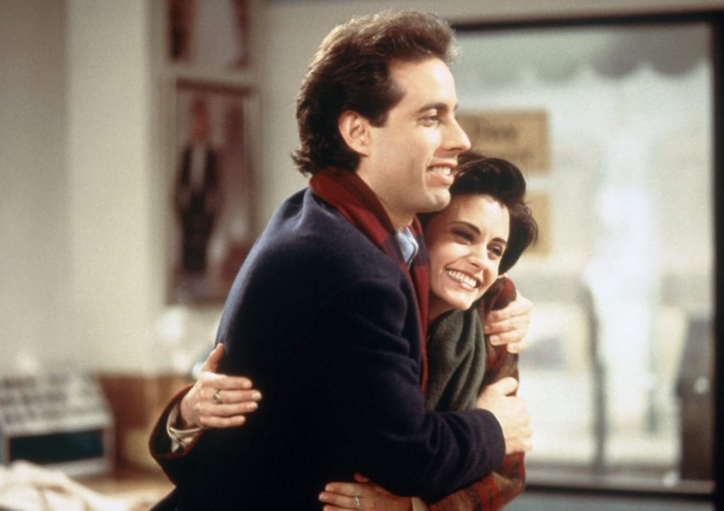 Jerry Seinfeld and Courteney Cox