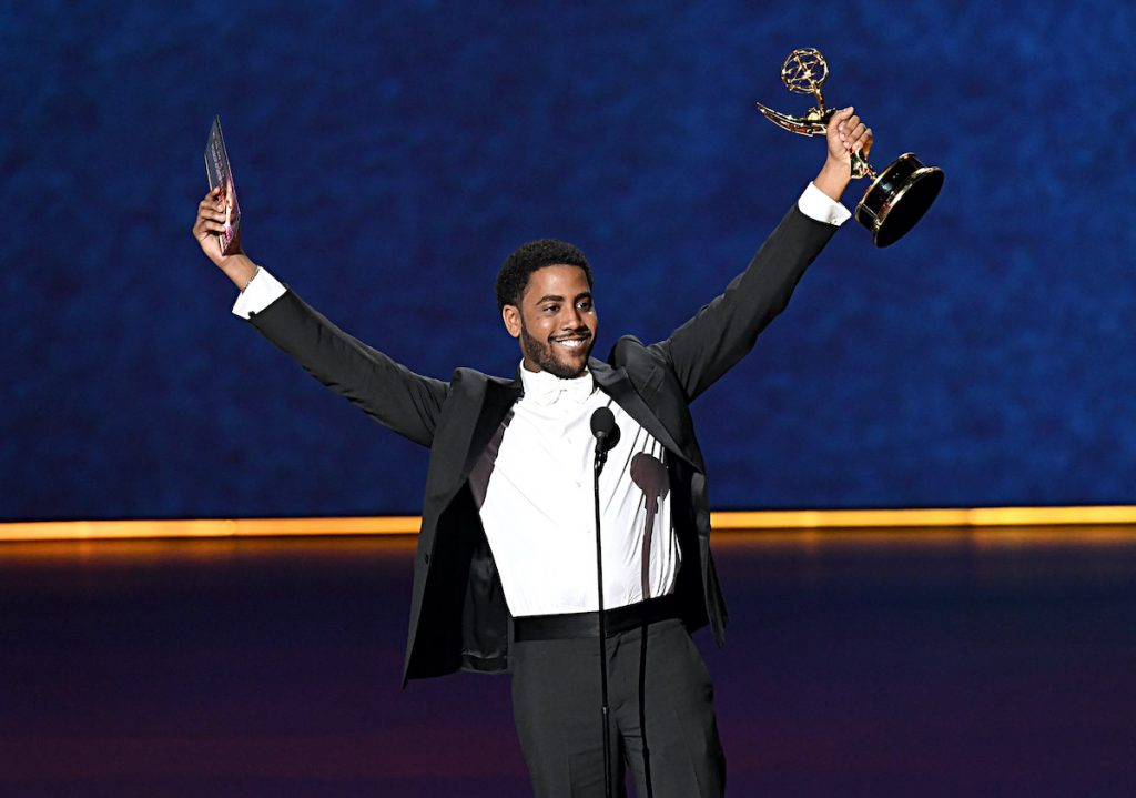 """Jharrel Jerome accepts the Outstanding Lead Actor, Limited Series or TV Movie award for """"When They See Us"""""""