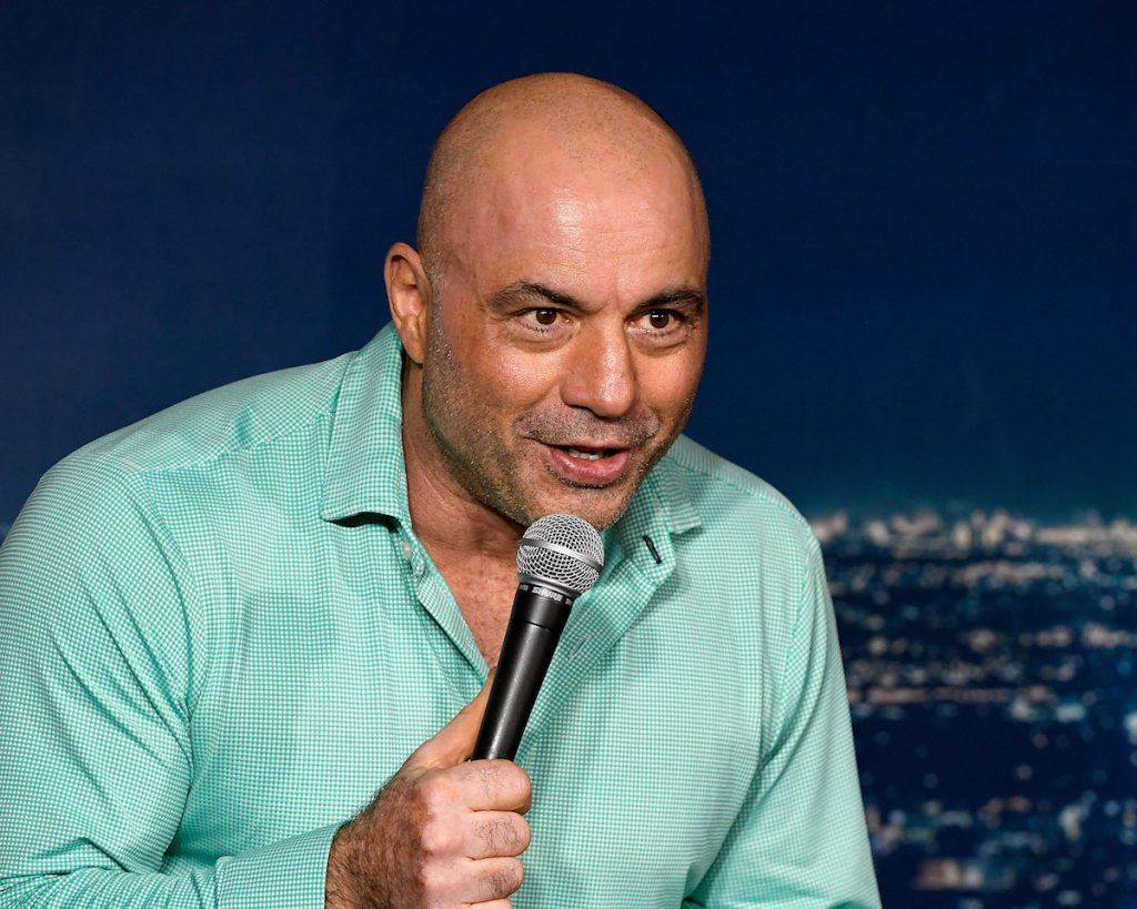 Joe Rogan at a live performance.