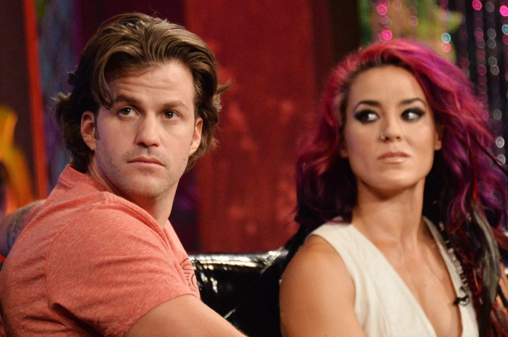 Johnny 'Bananas' Devenanzio and Cara Maria Sorbello at MTV's 'The Challenge: Rivals II' final episode and reunion party