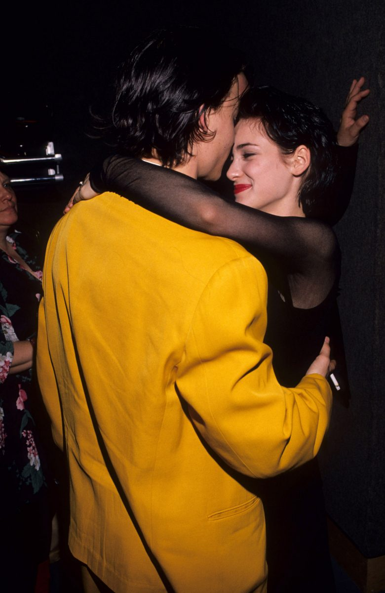 Johnny and Winona at the 'Cry-Baby' premiere