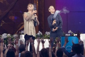 Justin Bieber Got Upset When Ellen DeGeneres Asked About His 'Friend' He Brought on Vacation: 'Stop, You're Making Me Blush'