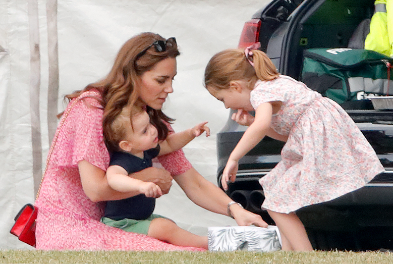 Kate Middleton, Prince Louis, and Princess Charlotte