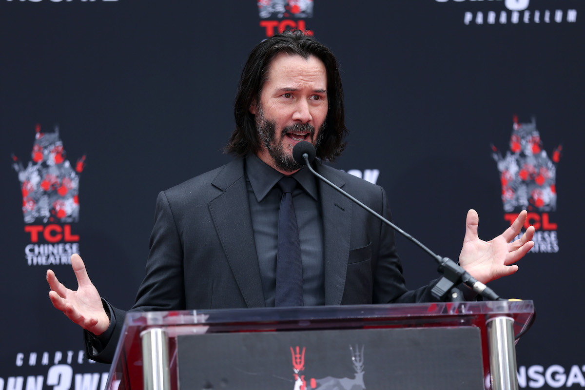 Keanu Reeves at the TCL Chinese Theatre IMAX forecourt