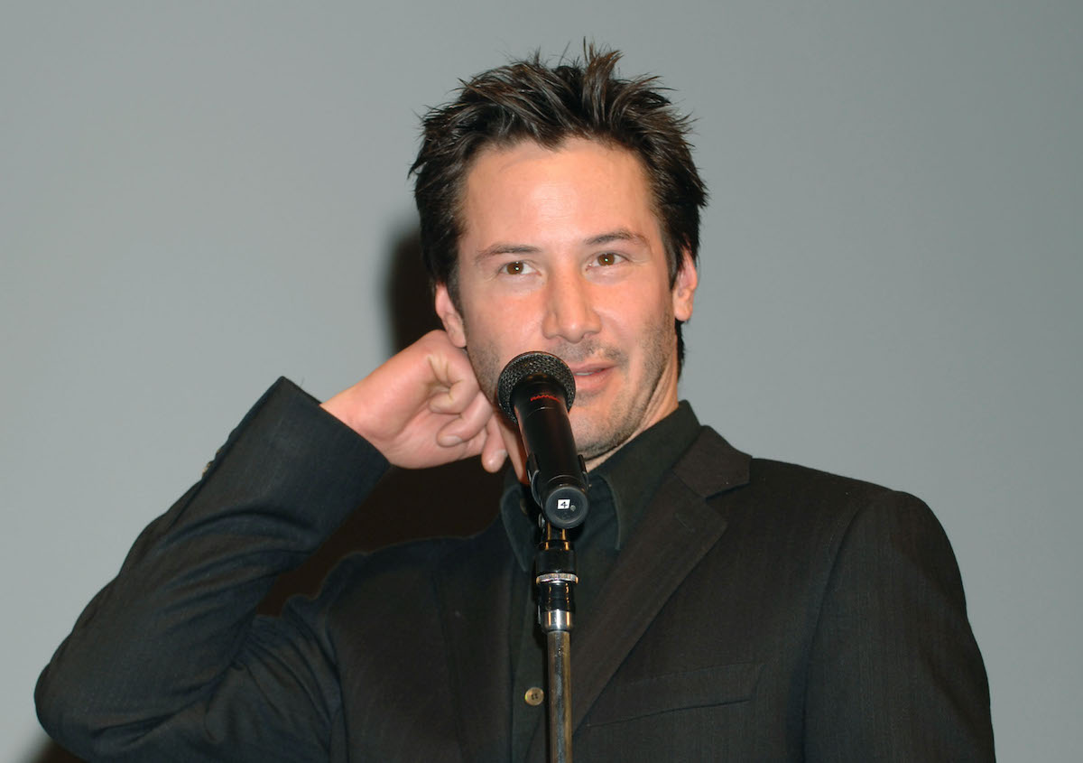 Keanu Reeves at the 'Constantine' Tokyo premiere