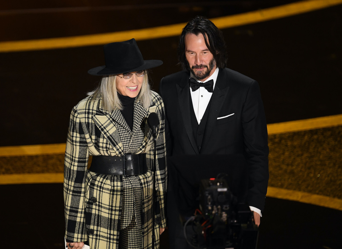 Diane Keaton and Keanu Reeves at the 92nd Annual Academy Awards
