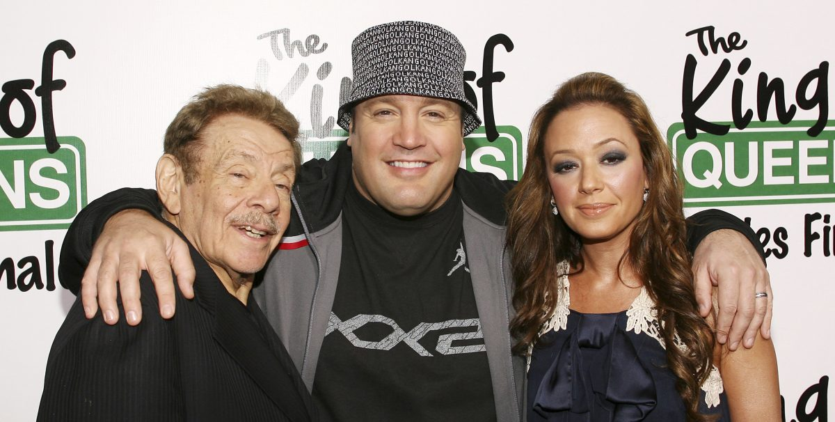 Jerry Stiller, Kevin James and Leah Remini attend ' The King of Queens' final season wrap party at Boulevard 3 on March 17, 2007