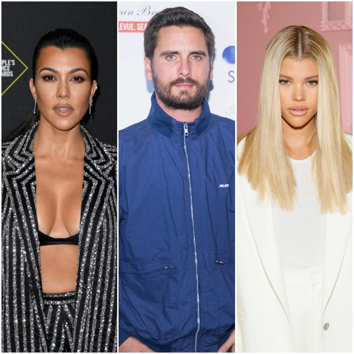 Kourtney Kardashian, Scott Disick, and Sofia Richie