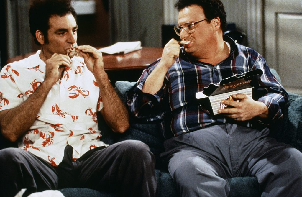 Michael Richards as Cosmo Kramer, Wayne Knight as Newman
