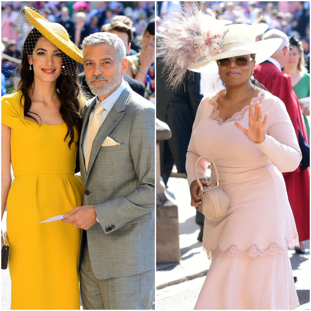 (L) Amal and George Clooney, (R) Oprah Winfrey
