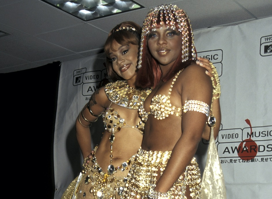 """Lisa """"Left Eye"""" Lopes and Lil Kim during 1997 MTV Video Music Awards at Radio City Music Hall in New York City, New York, United States. 