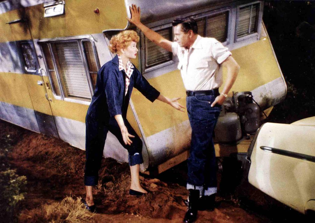Lucille Ball and Desi Arnaz in 1954 | FilmPublicityArchive/United Archives via Getty Images