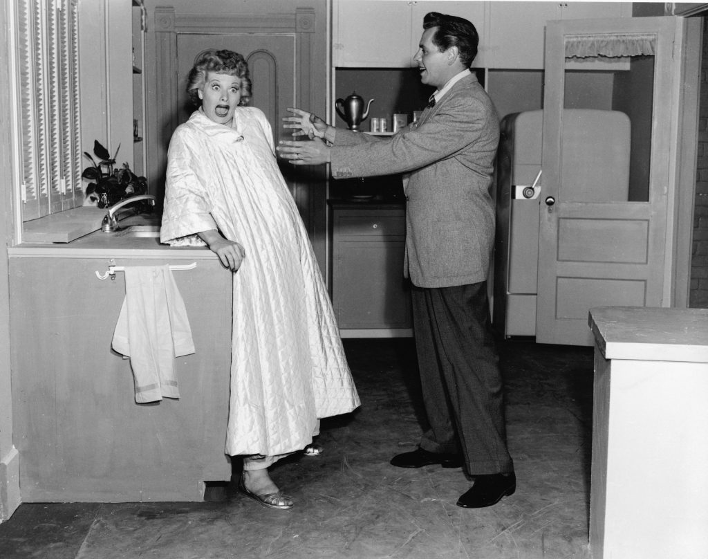 Lucille Ball with Desi Arnaz |  Hulton Archive/Getty Images