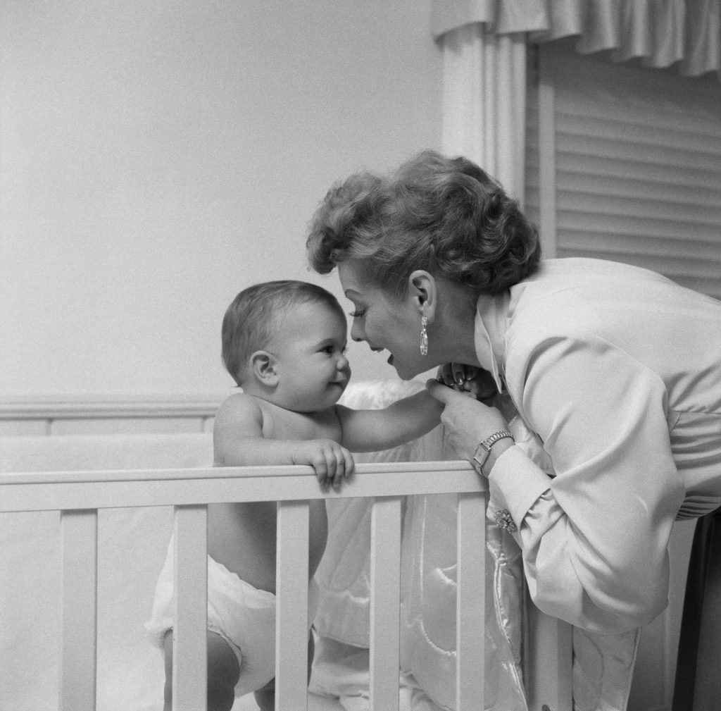 Lucille Ball with her son | Bettmann/Getty Images