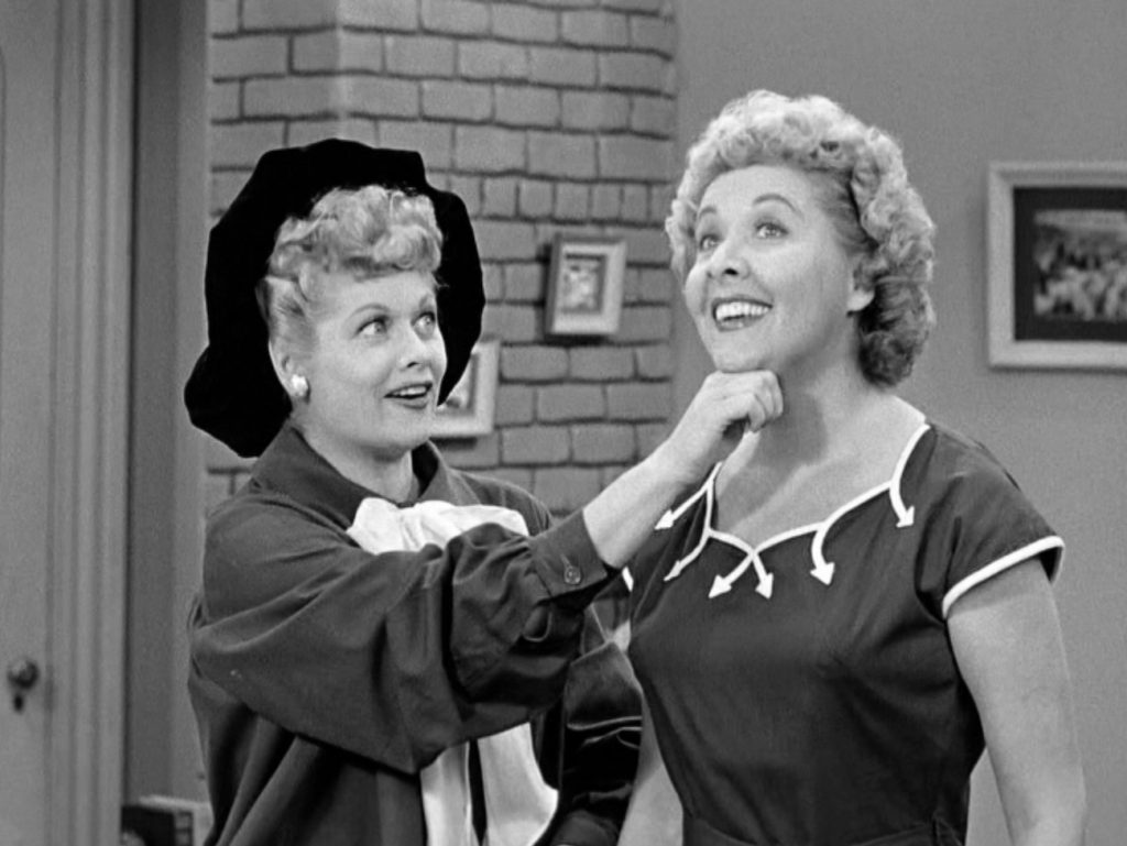 Lucille Ball and Vivian Vance of 'I Love Lucy'