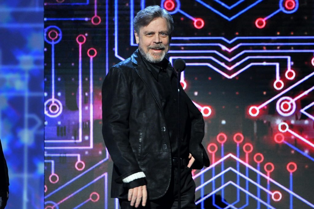 Actor Mark Hamill, who plays Luke Skywalker, speaks onstage during The Game Awards 2015