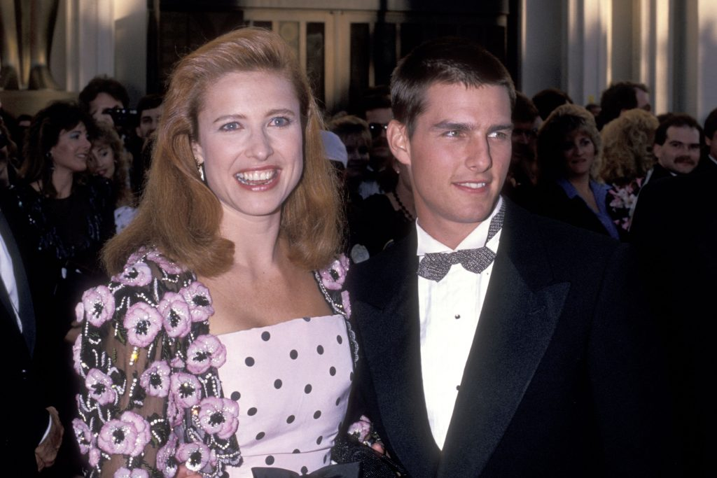 Actress Mimi Rogers and actor Tom Cruise attend the 61st Annual Academy Awards