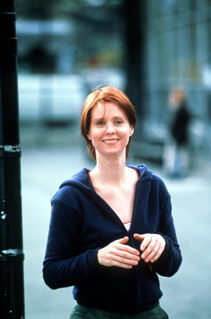 Cynthia Nixon as Miranda Hobbes in 'Sex and the City'