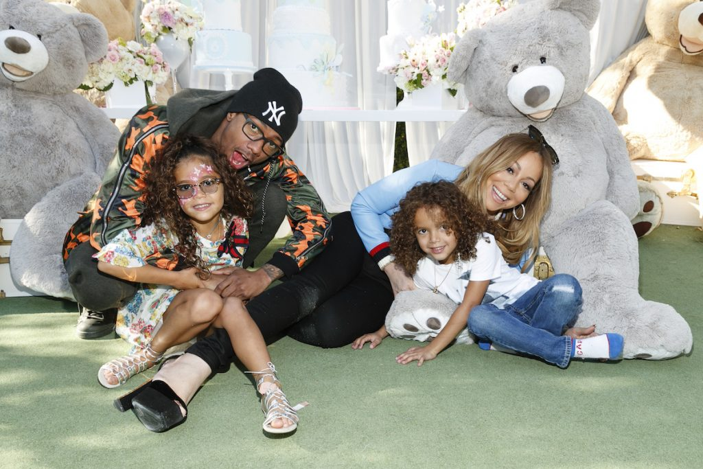 Nick Cannon and Mariah Carey with their children