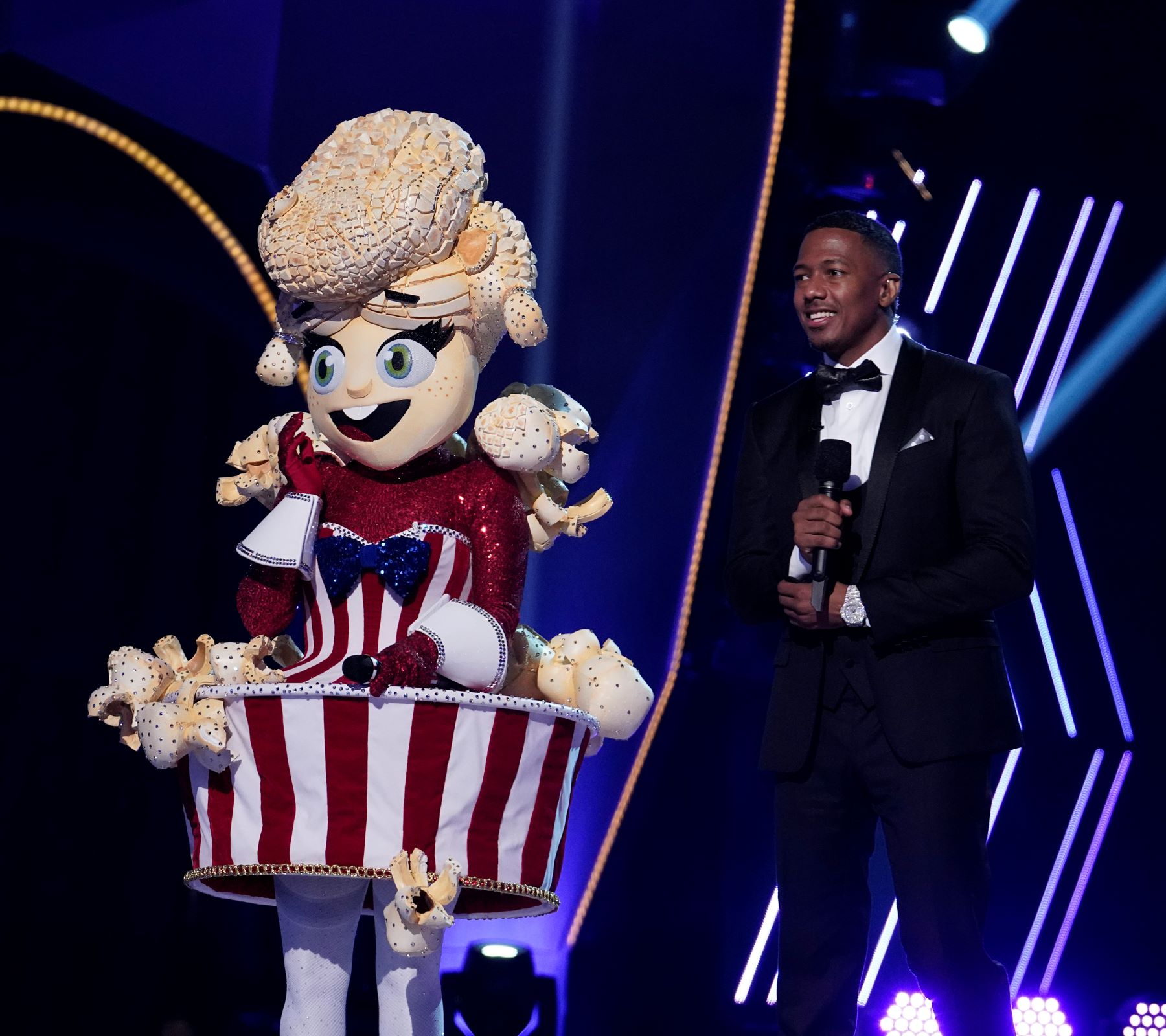Nick Cannon and the Popcorn on 'The Masked Singer' Season 4