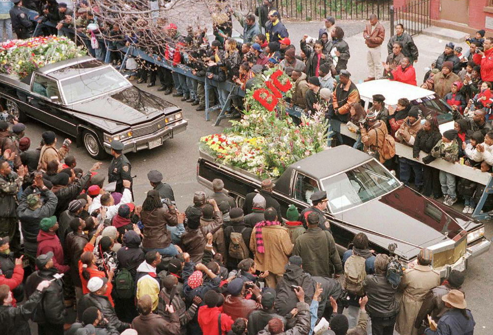 Notorious B.I.G. funeral procession