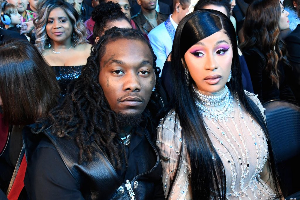 Offset (L) and Cardi B during the 62nd Annual Grammy Awards