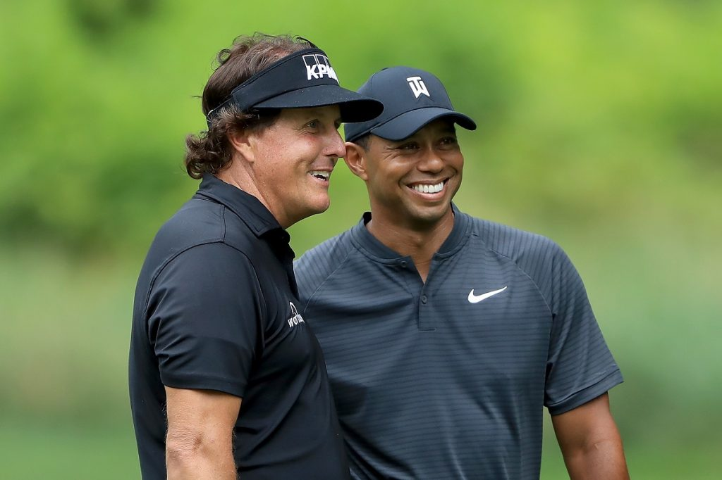 Phil Mickelson and Tiger Wood