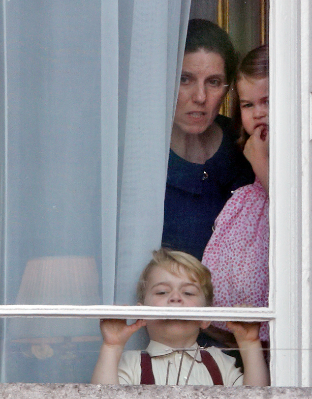 Prince George, Princess Charlotte, and their nanny Maria Teresa Borrallo
