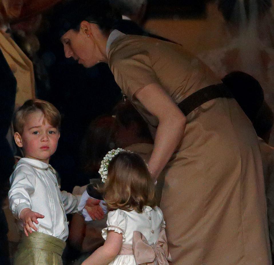 Prince George, Princess Charlotte , and their nanny Maria Teresa Borrallo