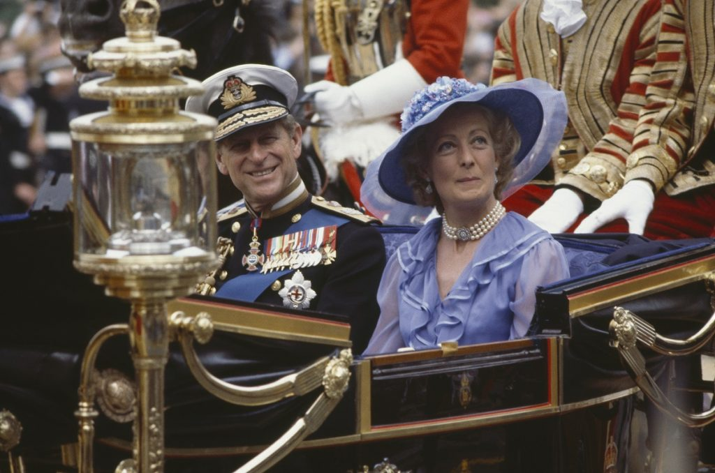 Prince Philip and Princess Diana's mother, Frances Shand Kydd