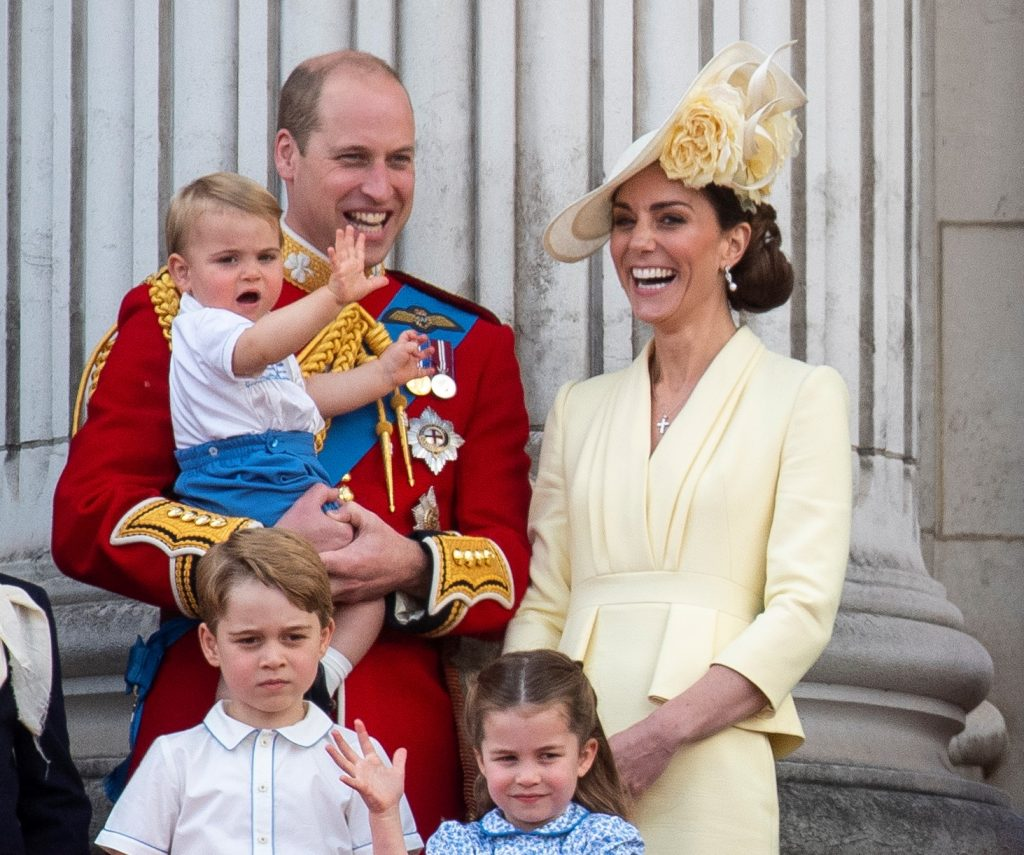 Prince William and Kate Middleon with their children, Prince Louis, Prince George, and Princess Charlotte