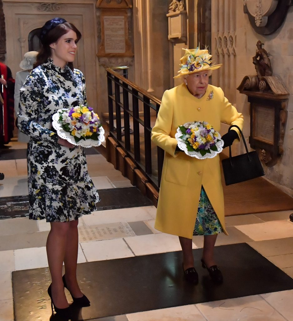 Princess Eugenie and Queen Elizabeth II