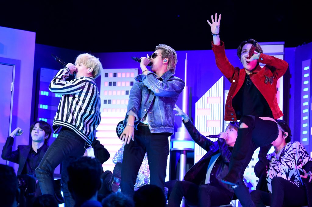 BTS performs at the 62nd Annual GRAMMY Awards