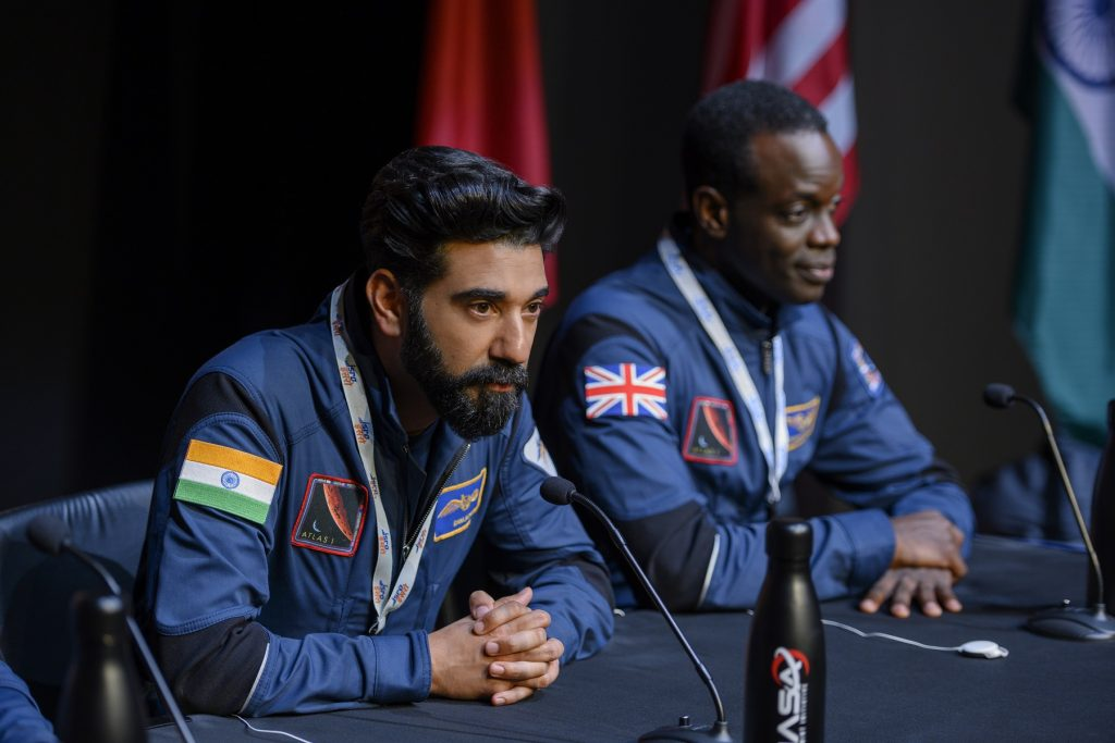 Ray Panthaki and Ato Essandoh in Away Netflix