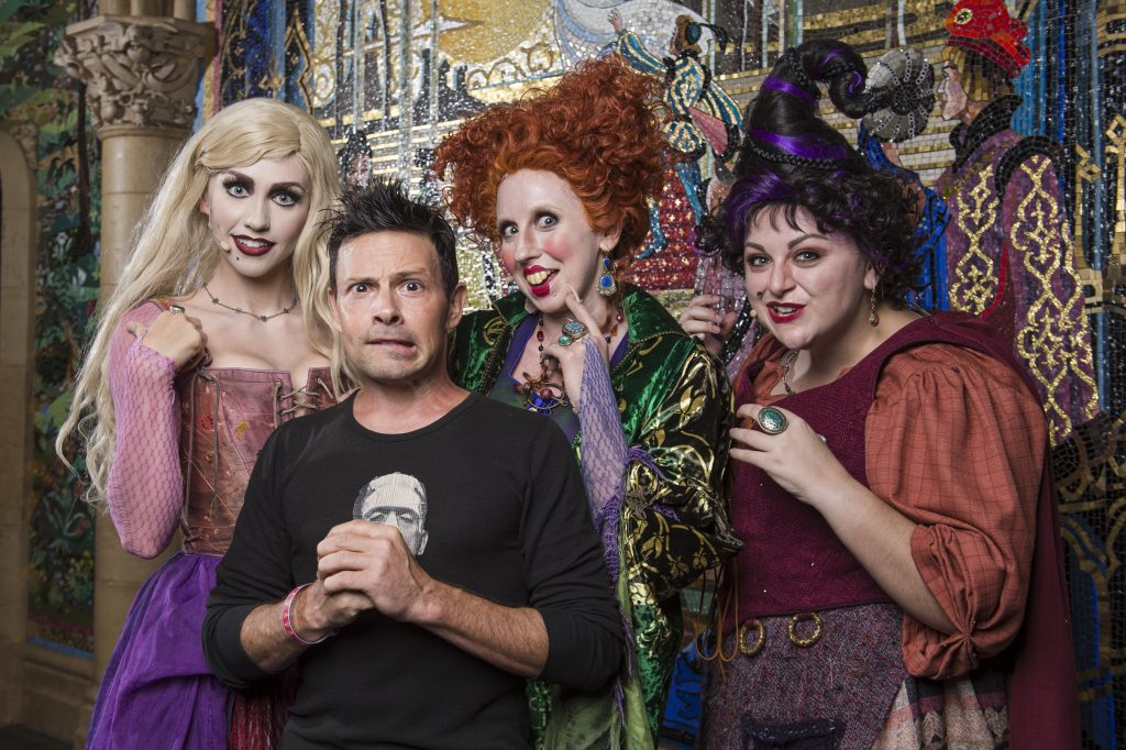 Actor Jason Marsden, who voiced the cat Thackery Binx in Disney's 'Hocus Pocus,' visits the infamous Sanderson Sisters