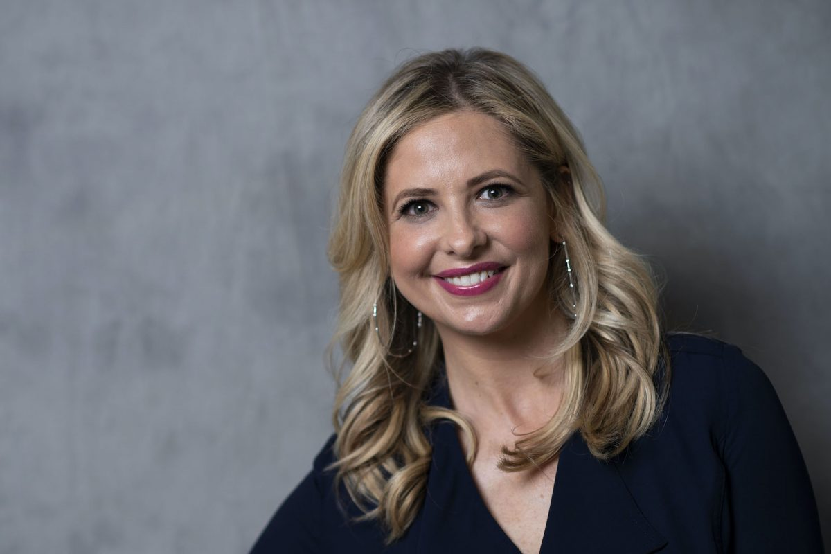 Sarah Michelle Gellar poses for photographers at the 2018 United State of Women Summit