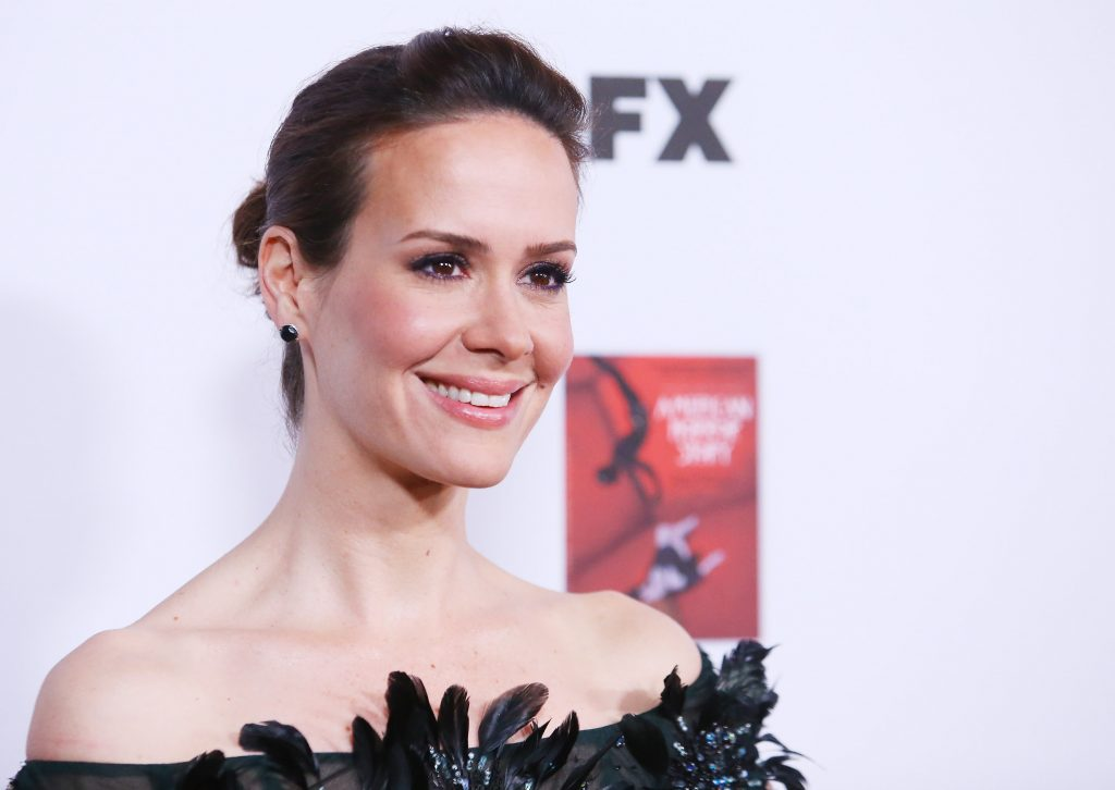 Sarah Paulson arrives at the Los Angeles premiere of 'American Horror Story: Asylum'