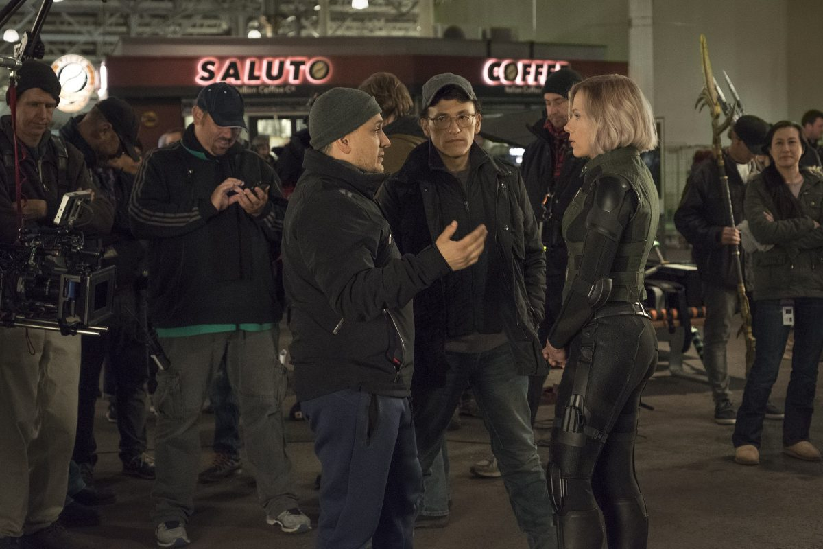 Scarlett Johansson and Russo Brothers
